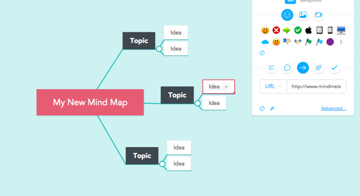 Manually linking mind maps