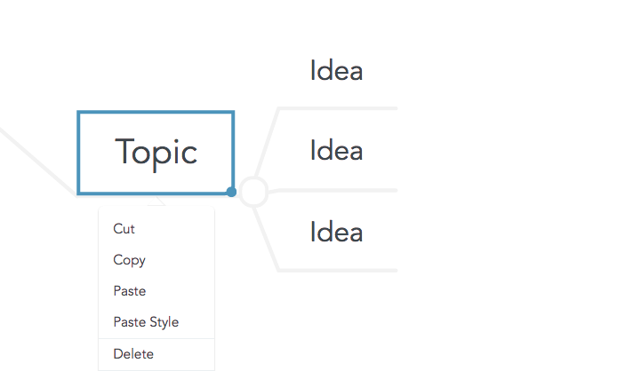 Cut, copy and paste topics