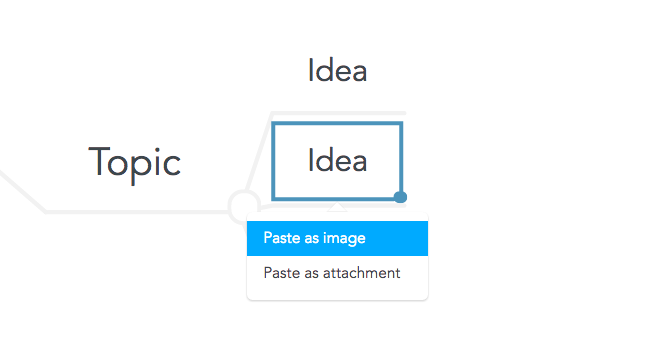 Pasting images into your mind map