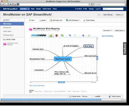 SAP StreamWork and MindMeister