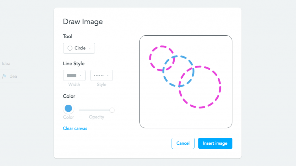 Drawing images in MindMeister