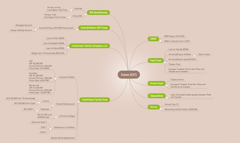 manage money with mind maps