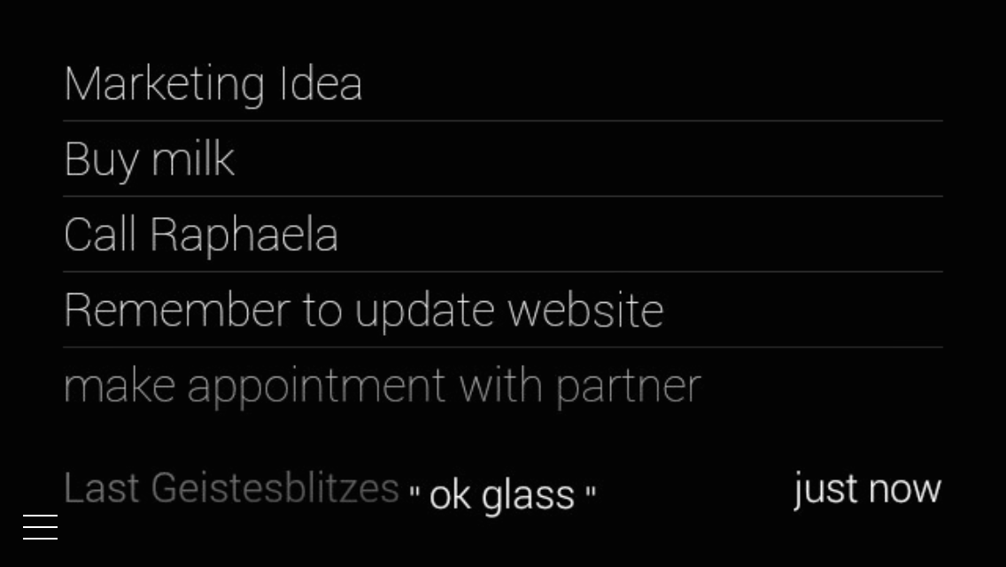 Geistesblitzes in Glass