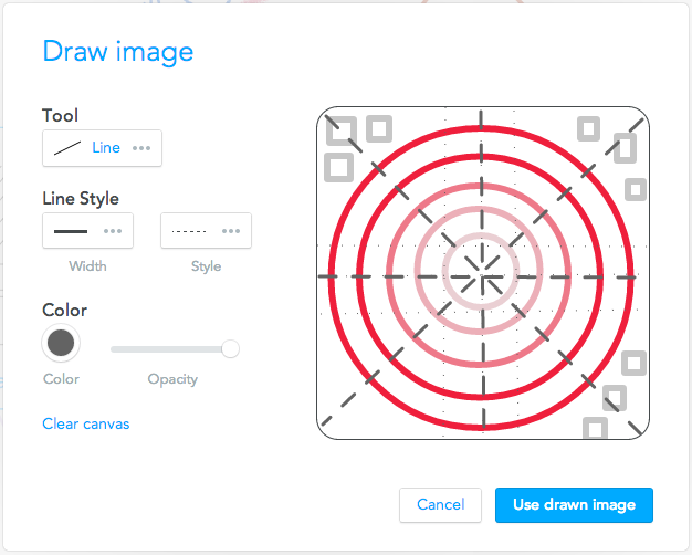 Drawing in the Draw image dialogue