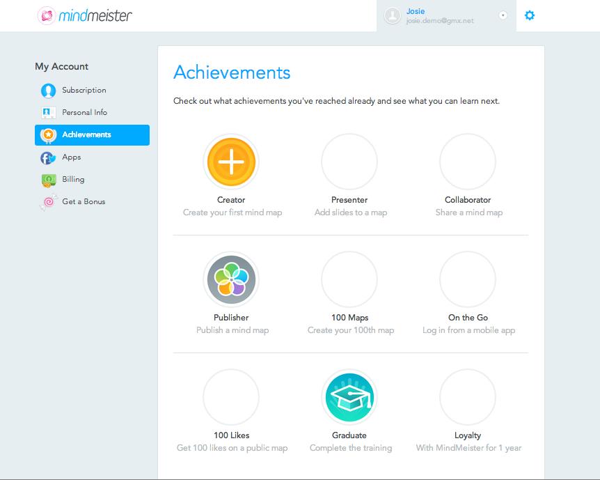 Explore MindMeister to unlock Achievements