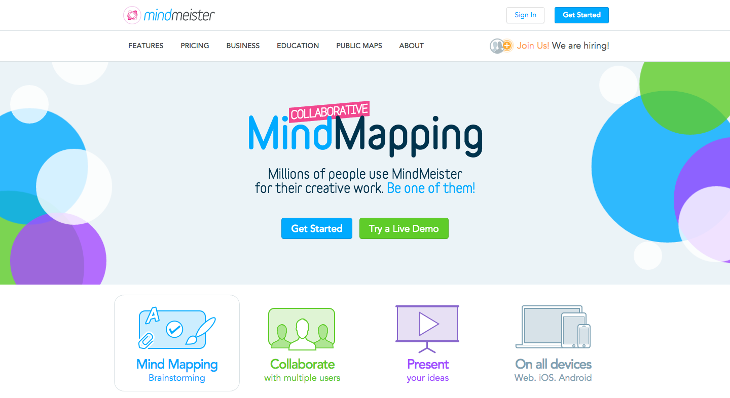 Online Mind Mapping with MindMeister