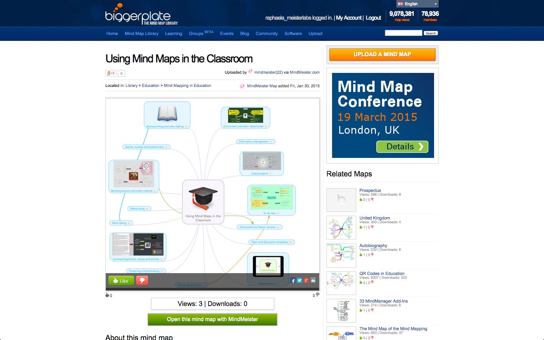 MindMeister mind map on Biggerplate