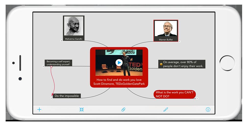 Play videos in MindMeister's iOS app