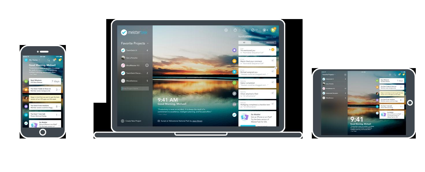 MeisterTask on iPhone, iPad and Mac