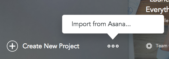 Import from Asana - speed up your workflow