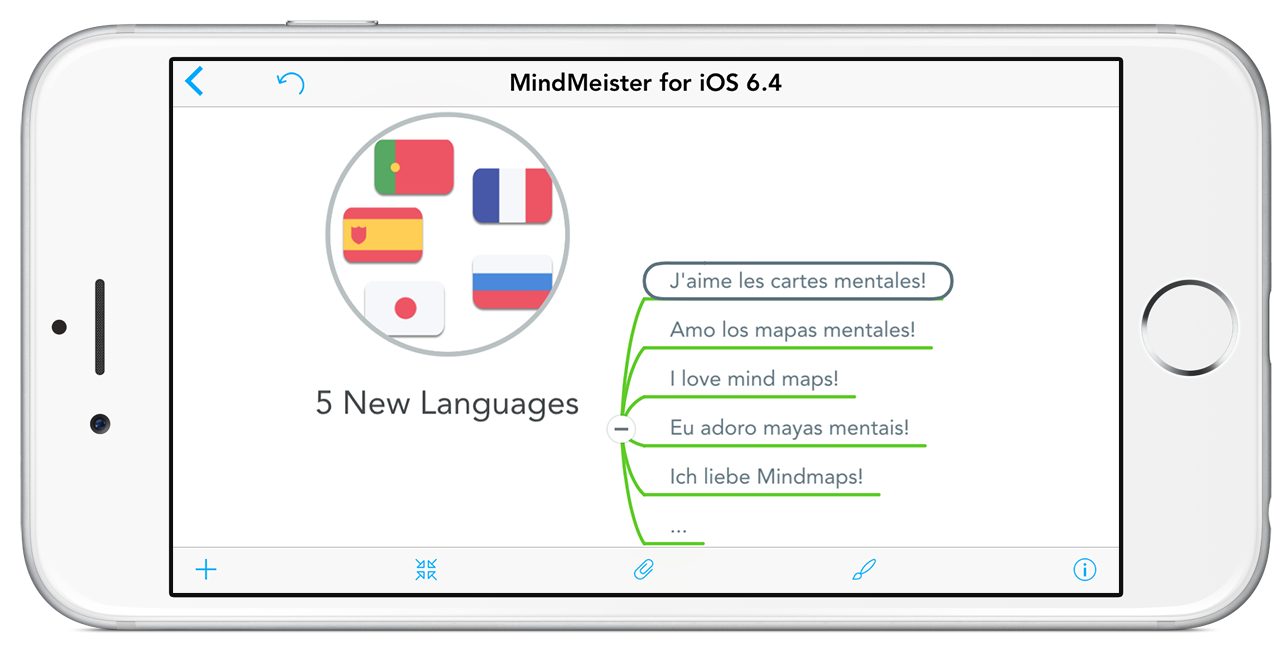 New languages for MindMeister's iOS app