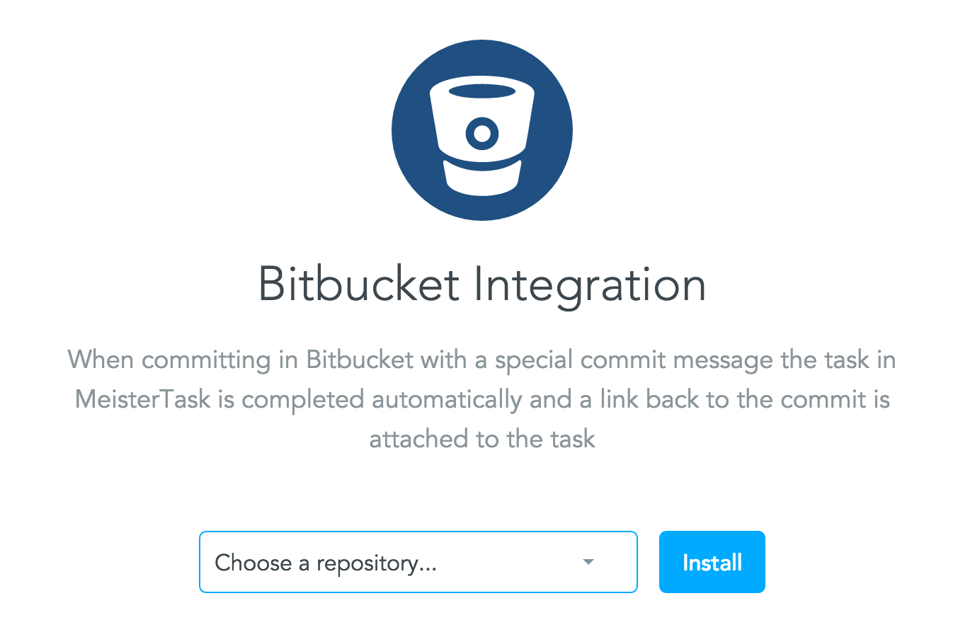 Enabling the BitBucket integration in MeisterTask - Step 3