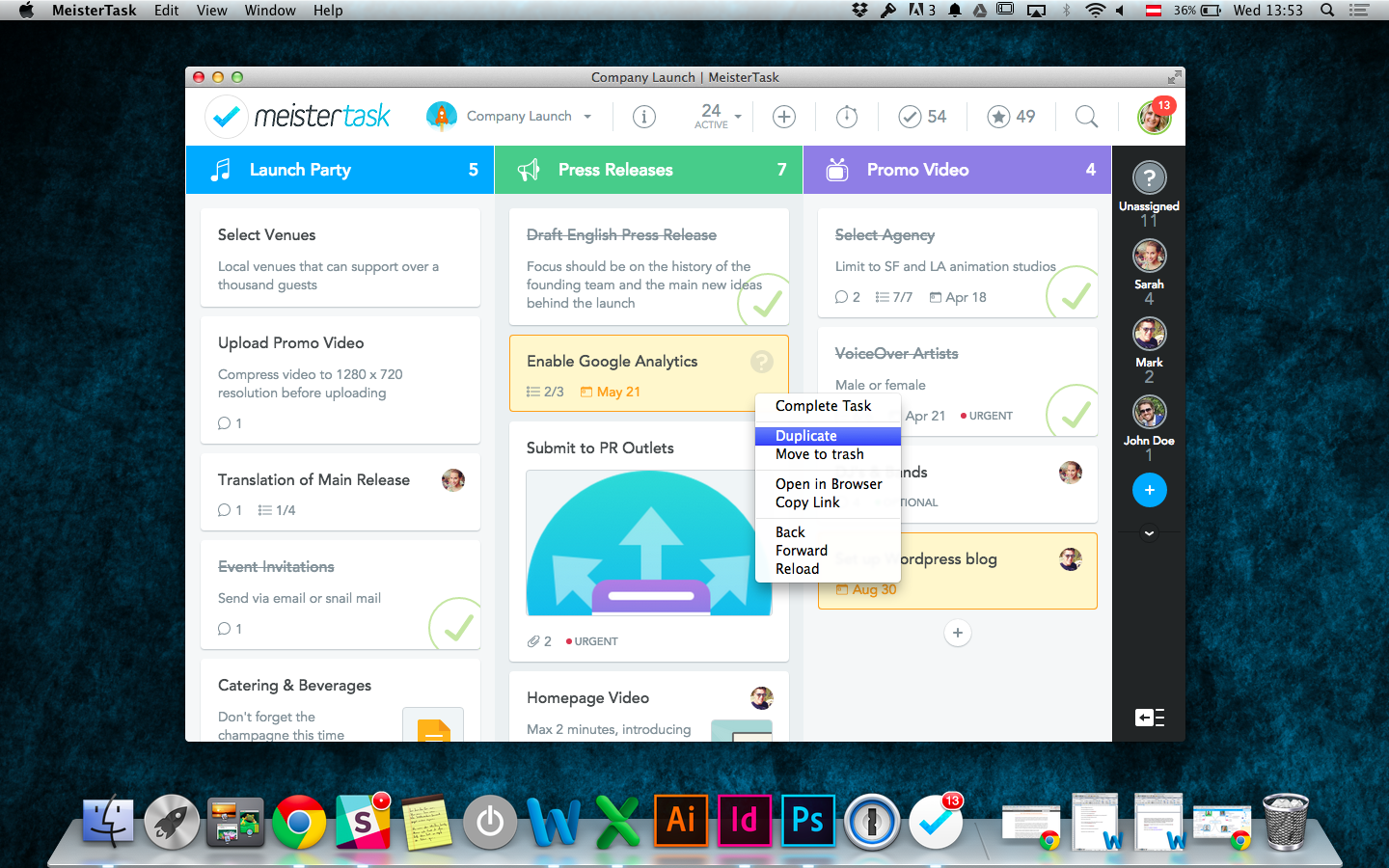 MeisterTask for Mac 1.0