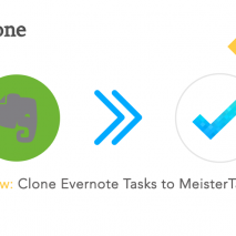 Evernote with MeisterTask