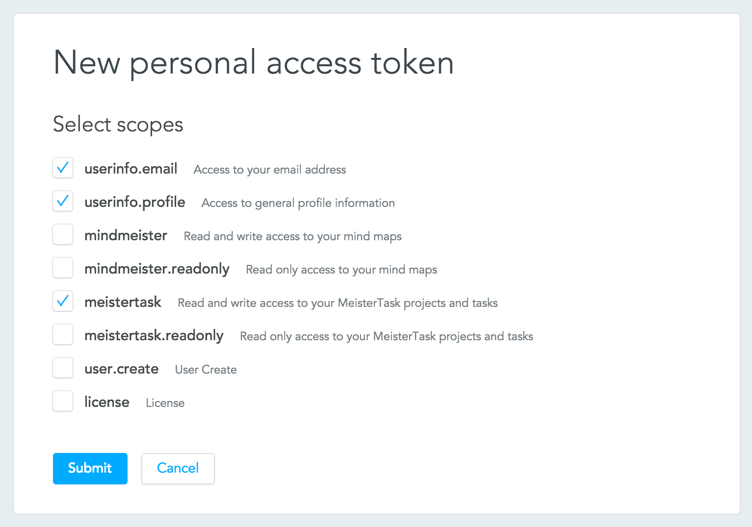 Retrieving your access token bugsnag with MeisterTask