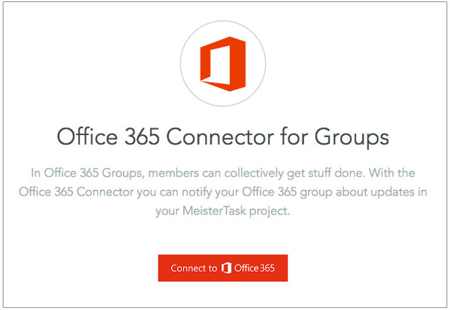 Adding the Office 365 integration to your project - MeisterTask to Microsoft Office
