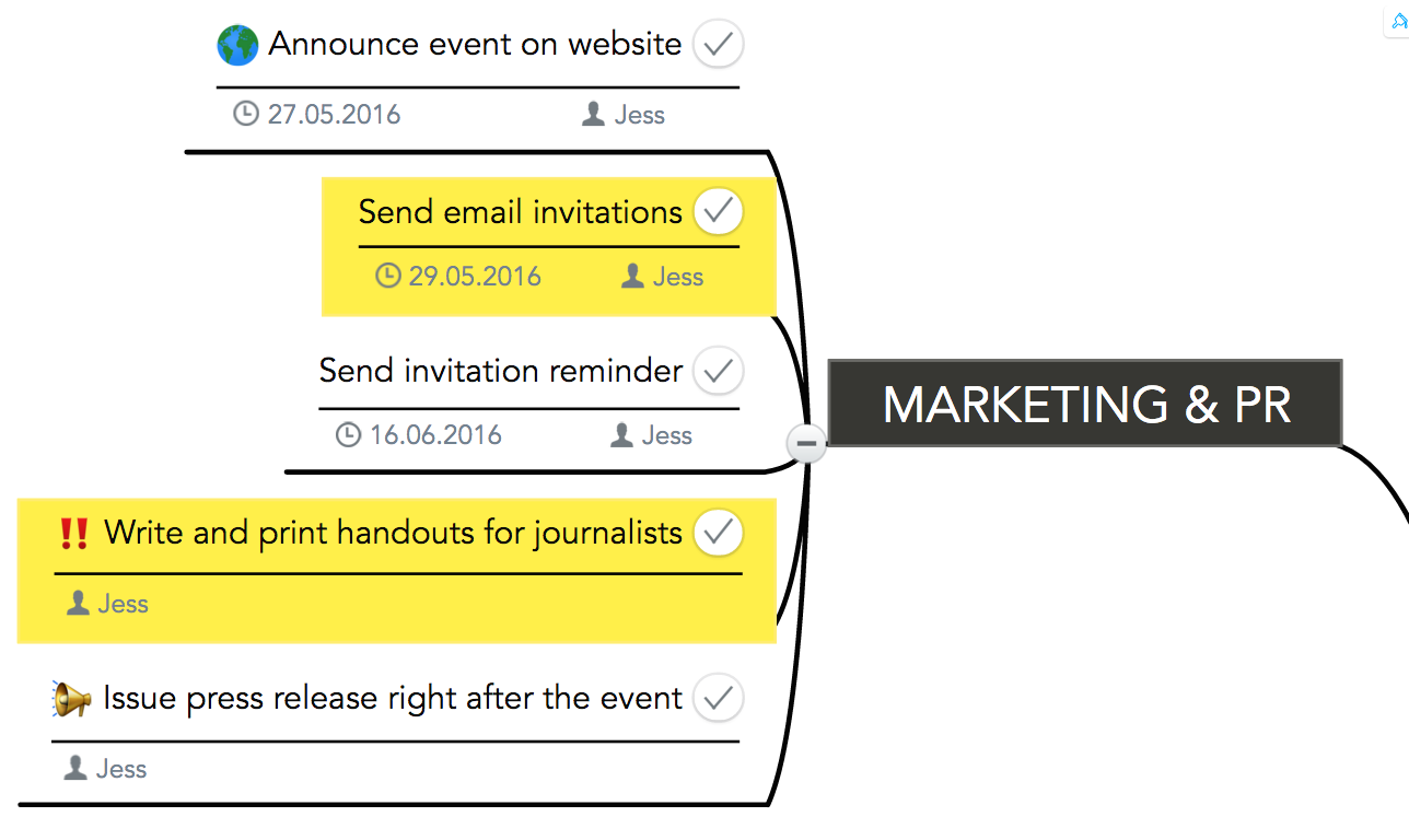 Marketing and PR tasks