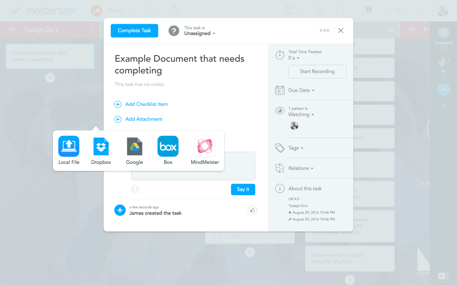 Upload, share and feedback on documents project management in school