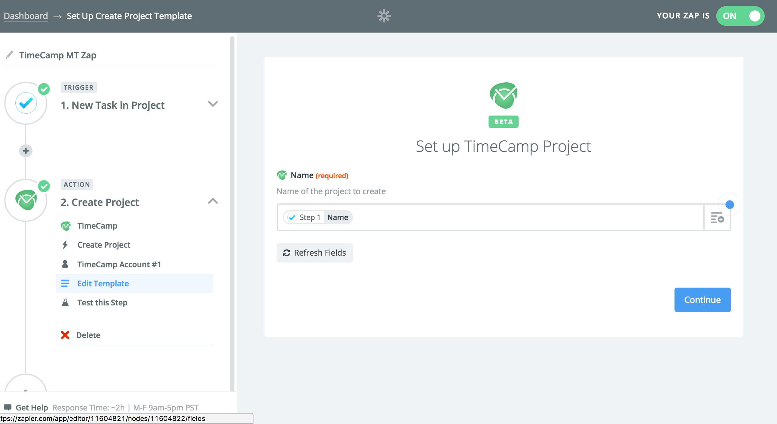 set up screen time tracking with TimeCamp and MeisterTask