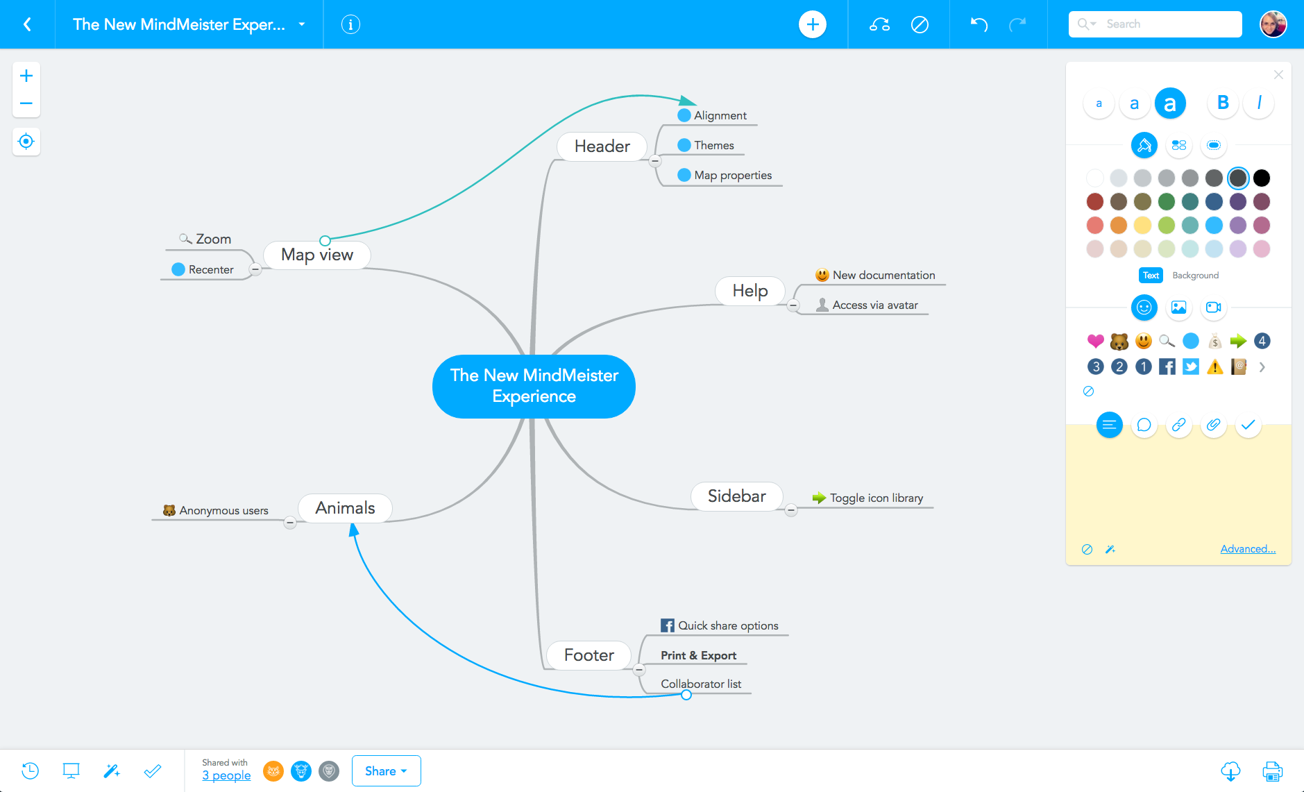 MindMeister mind map editor 2016