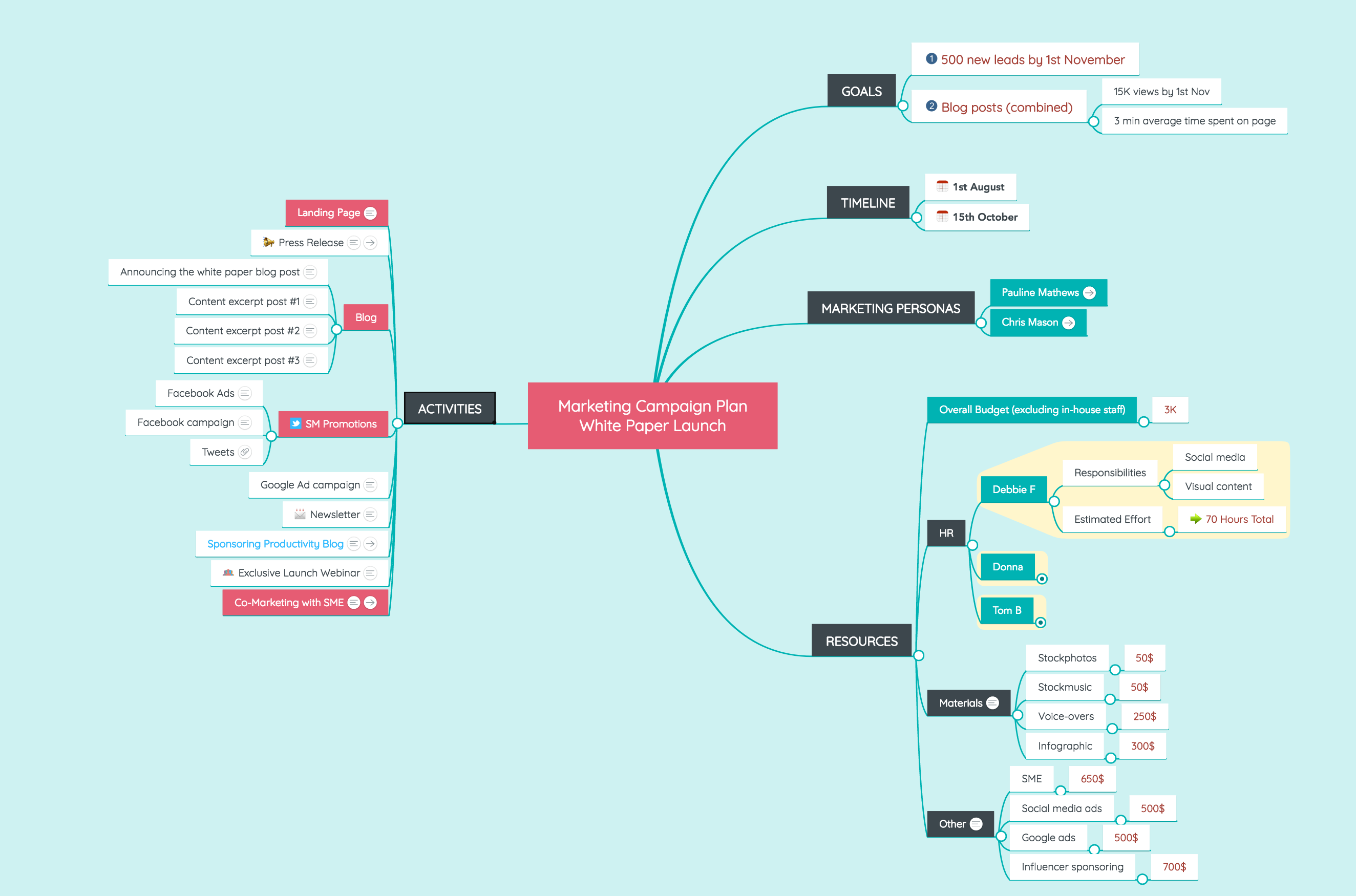 Marketing Campaign Plan Mind Map