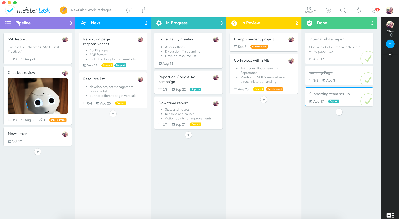 MeisterTask NewOrbit product management
