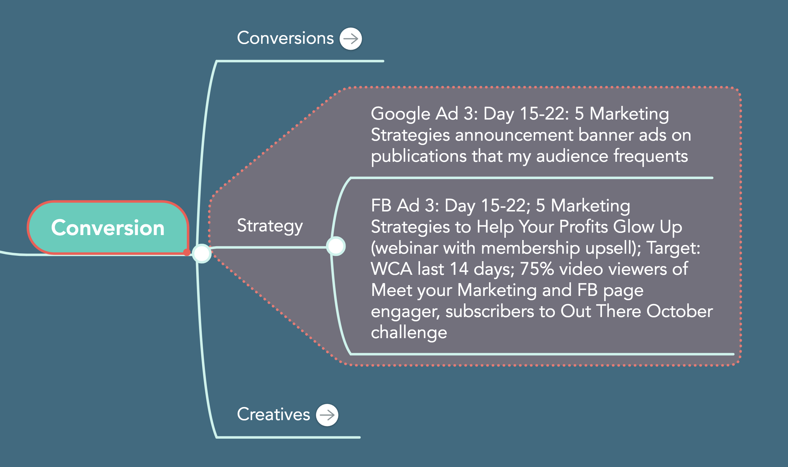 strategy conversion customer life cycle MindMeister sales funnel facebook advertising google advertising