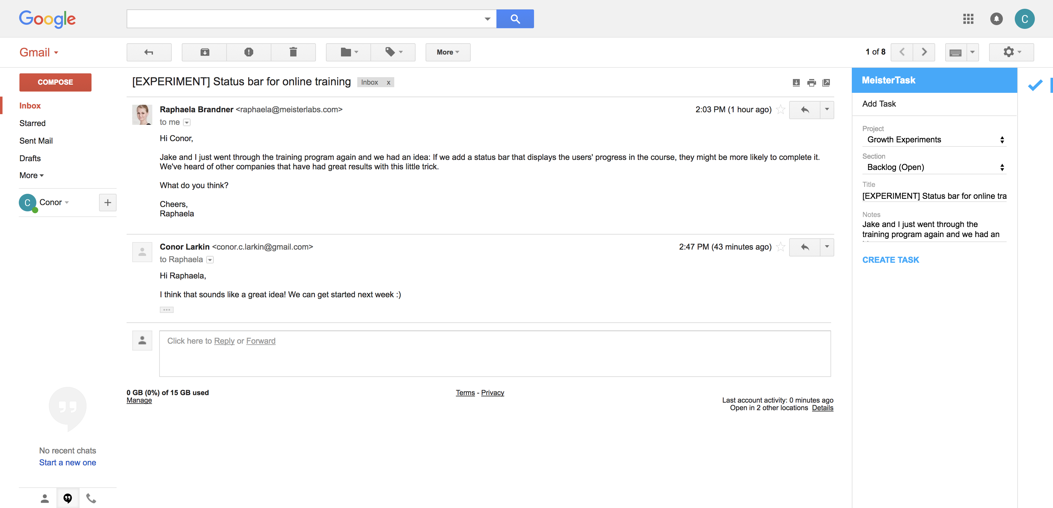 how to create tasks in gmail