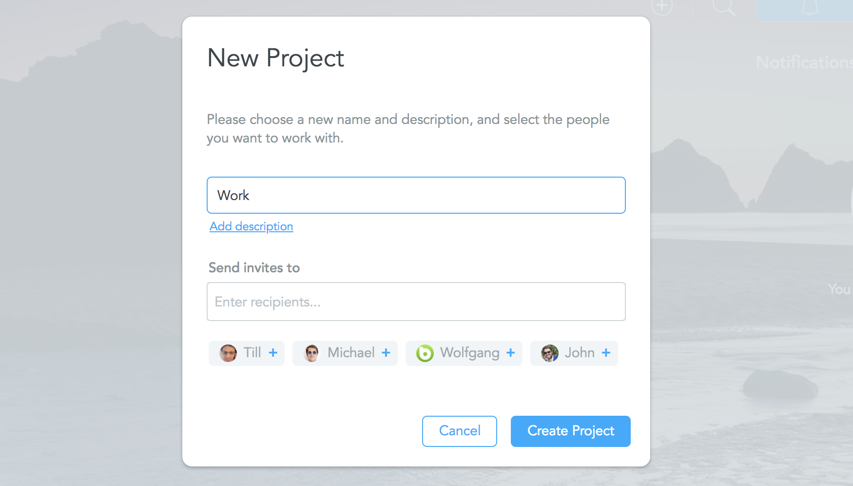 Create a New Project in MeisterTask