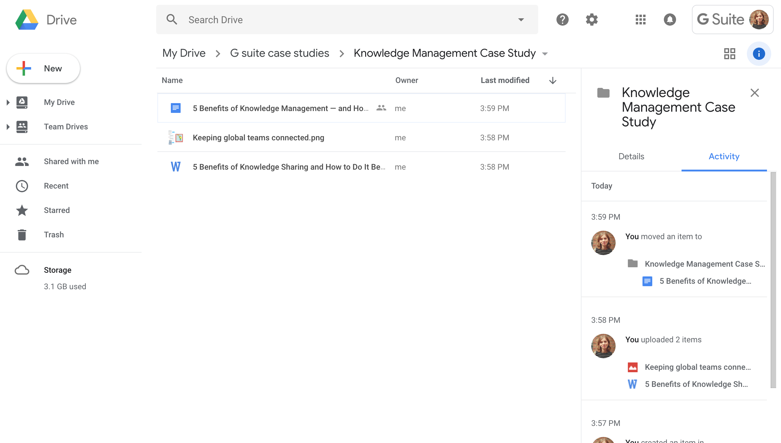 Google Drive knowledge management