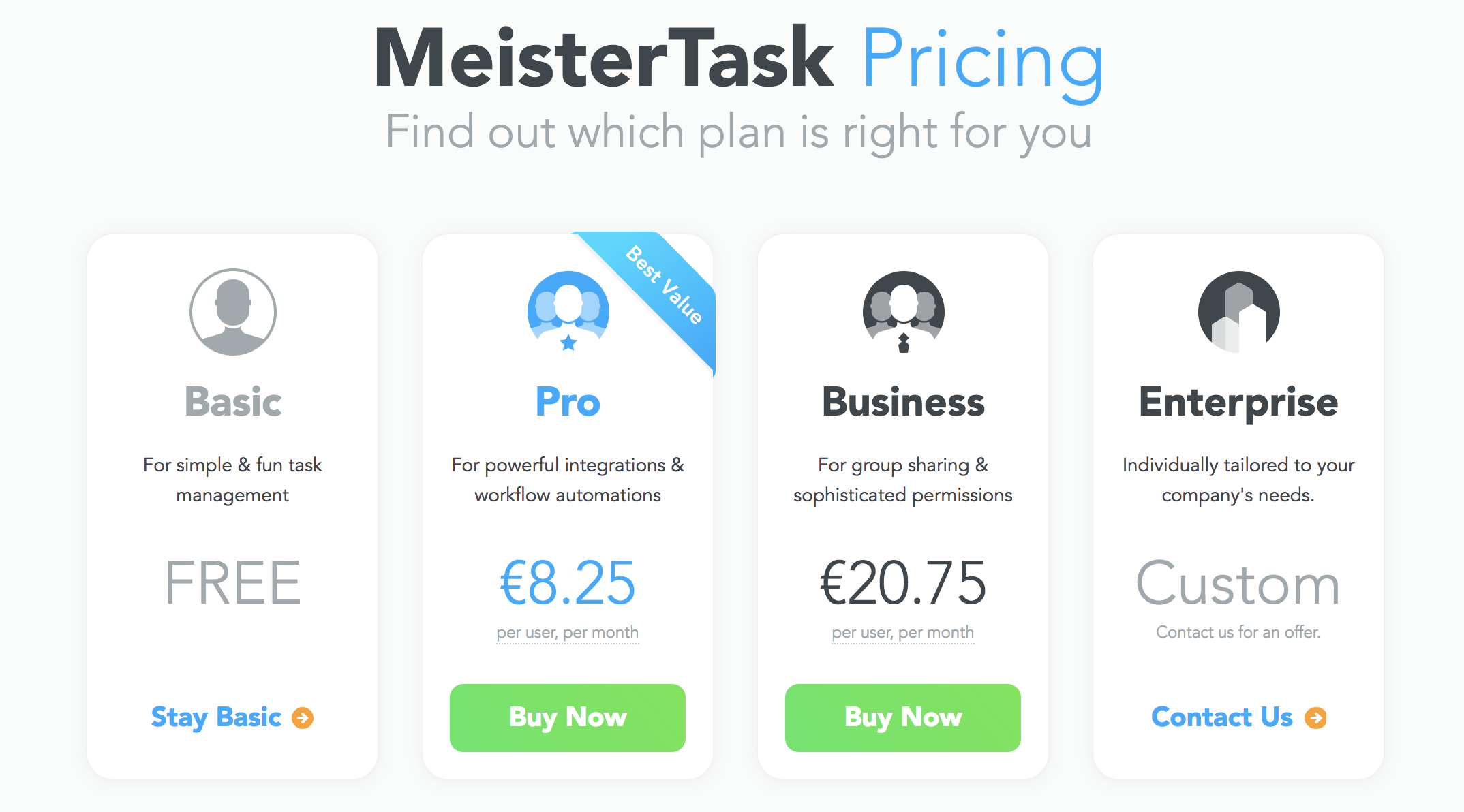 MeisterTask Pricing