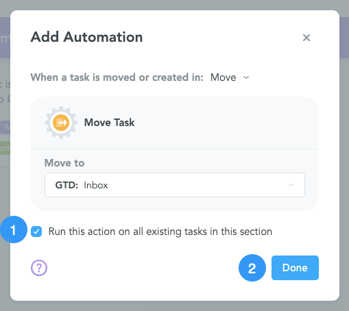 Apply MeisterTask Automation