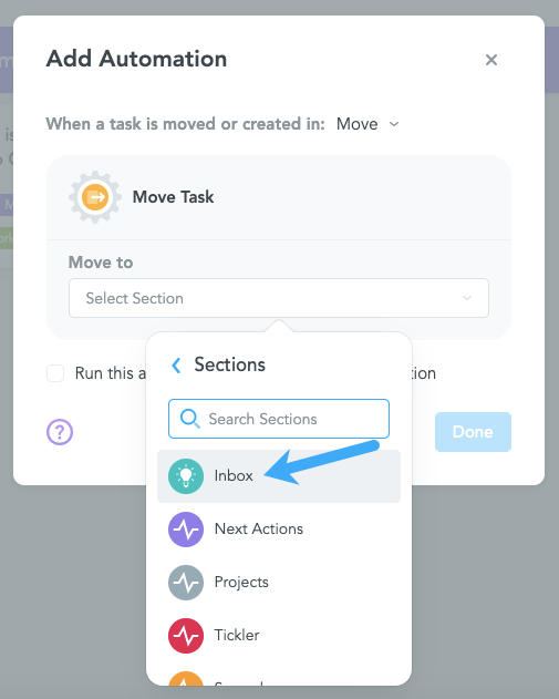 Move Task to Different MeisterTask Project Lane