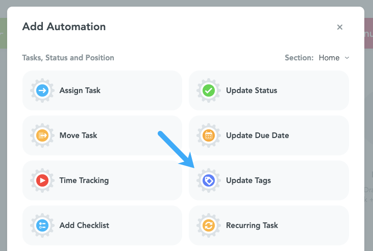 Update Tags Automation MeisterTask