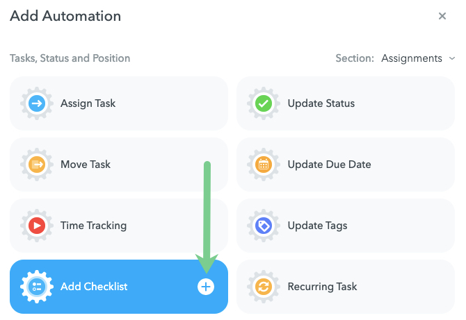 Add Checklist Automation in MeisterTask