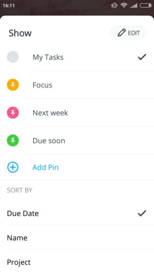 MeisterTask Agenda Android
