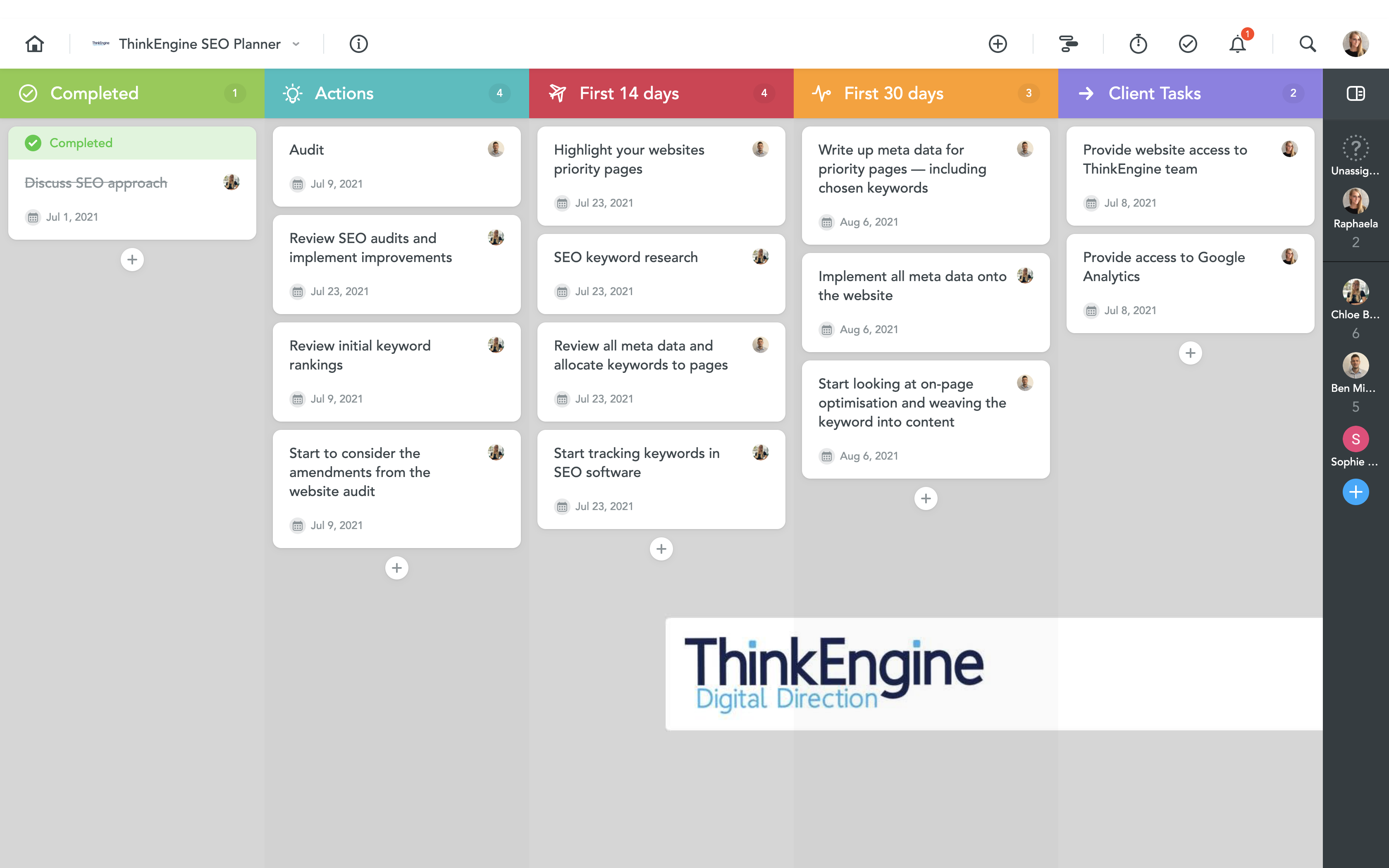 ThinkEngine SEO Planner